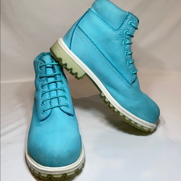 "Timberland Other - Timberland Junior 6"" premium waterproof boots Teal"